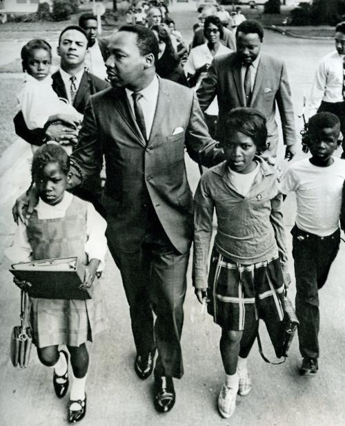 MLK with kids