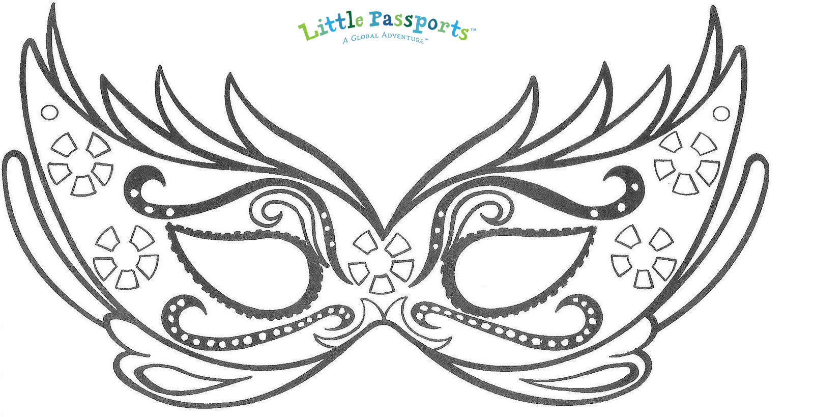 picture about Printable Mask Templates known as Young children Costumes and Masks for Carnaval inside of Brazil - Minor