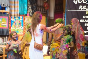 Little Passports Blog Crowd Holi in India