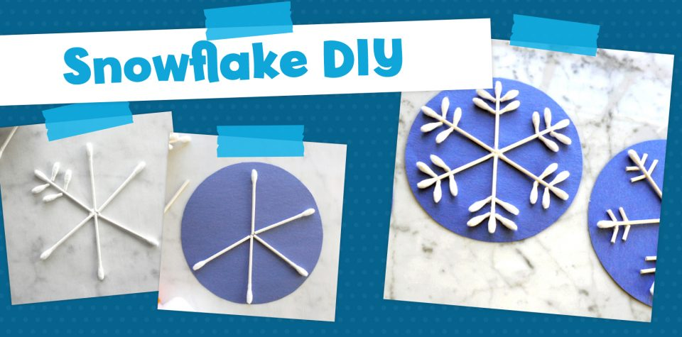 Make easy cotton swab snowflakes with Little Passports