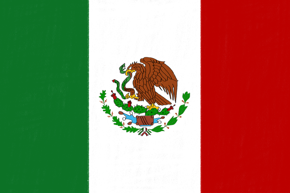 Flag from Mexico