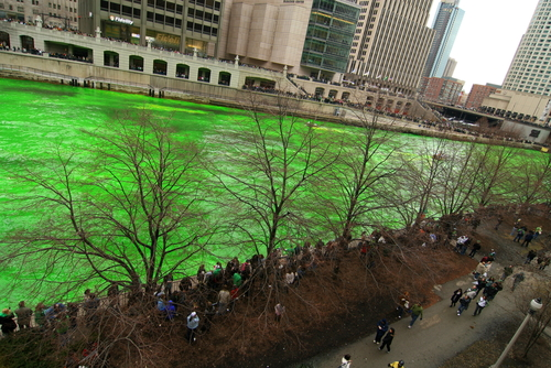 Little Passports Blog St. Patrick's Around the world Chicago Green Dyed River