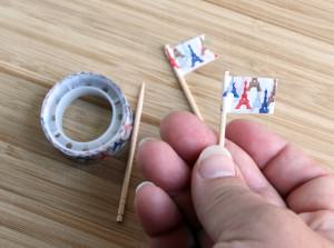 France Bento Mini Eiffel Tower Food Toothpicks