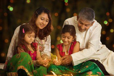 Diwali family photo