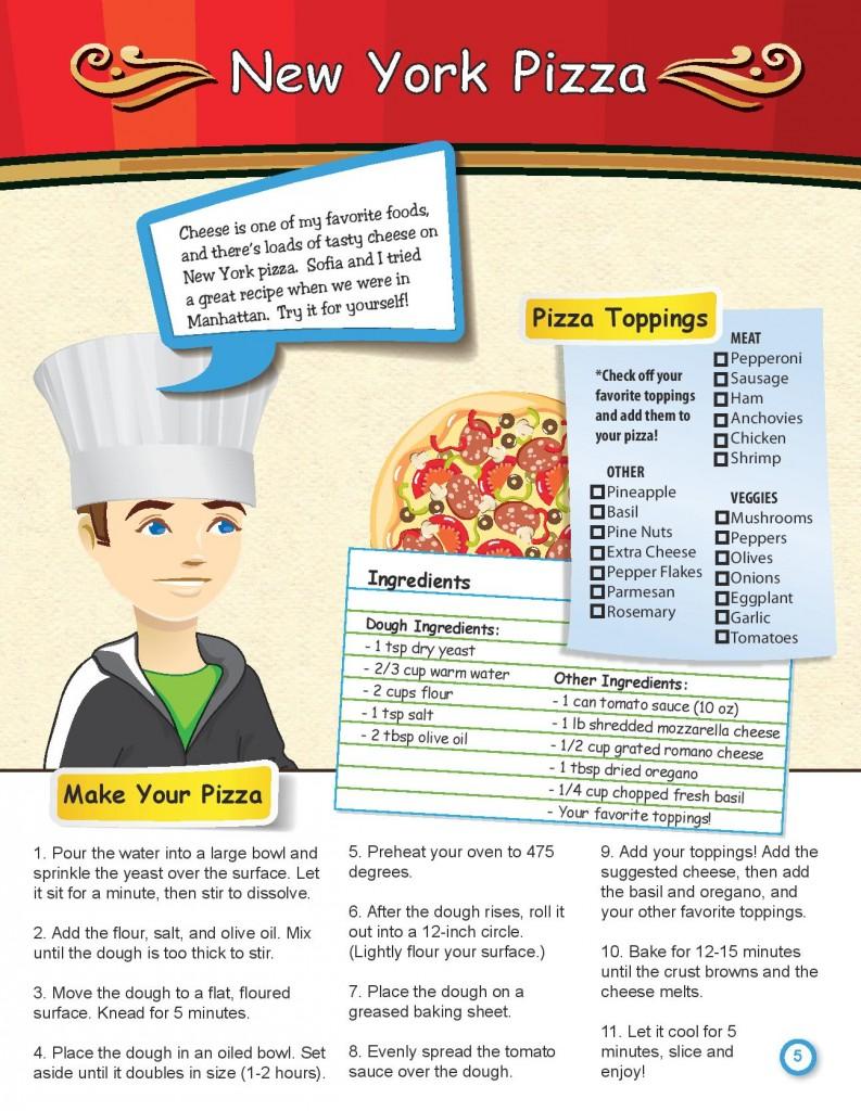 Sam New York Pizza Pizza Recipe Graphic