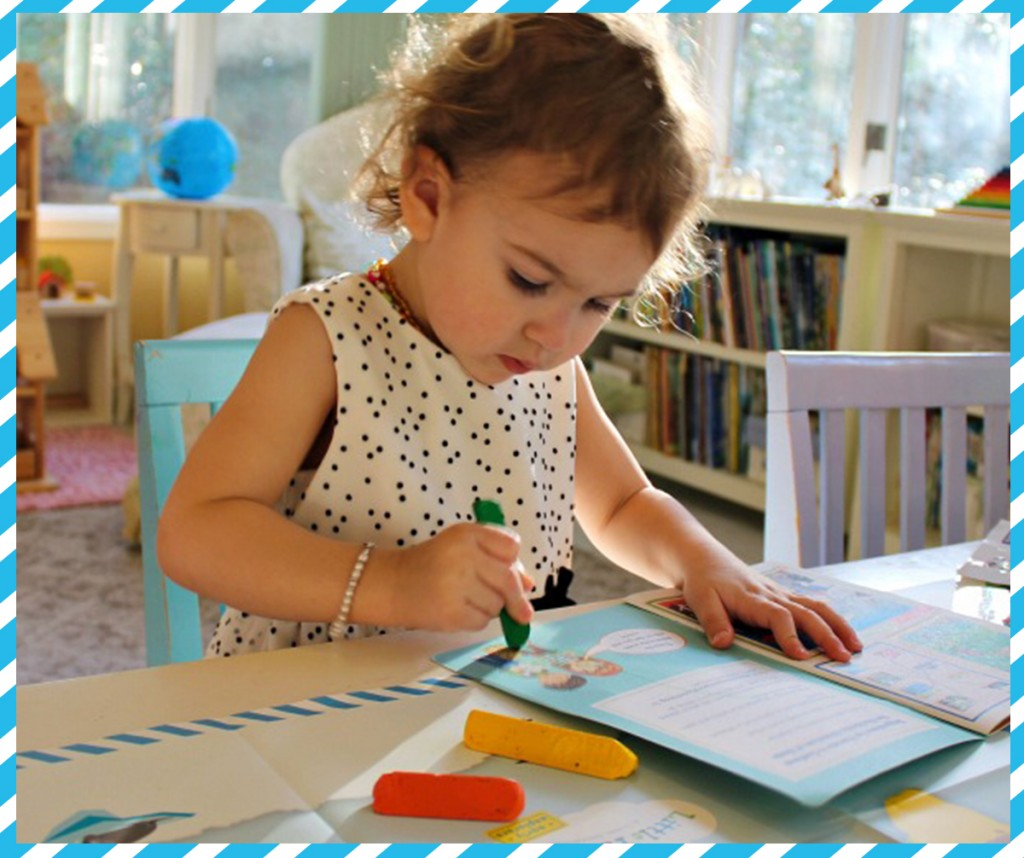 Review for Early Explorers Preschool Girl doing Early Explorers Activity