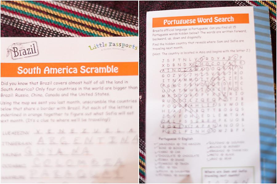 Little Passports Blog Explore Brazil Word Search and Scramble