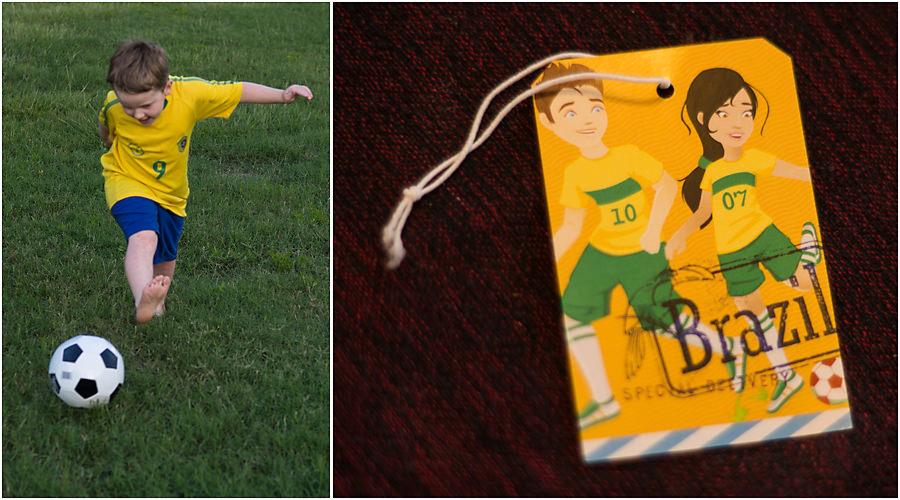 Little Passports Blog Explore Brazil Child & Sam/Sofia playing soccer