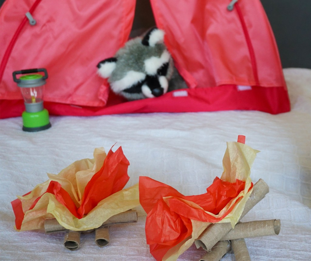Little Passports DIY Indoor Campfire Finished Craft