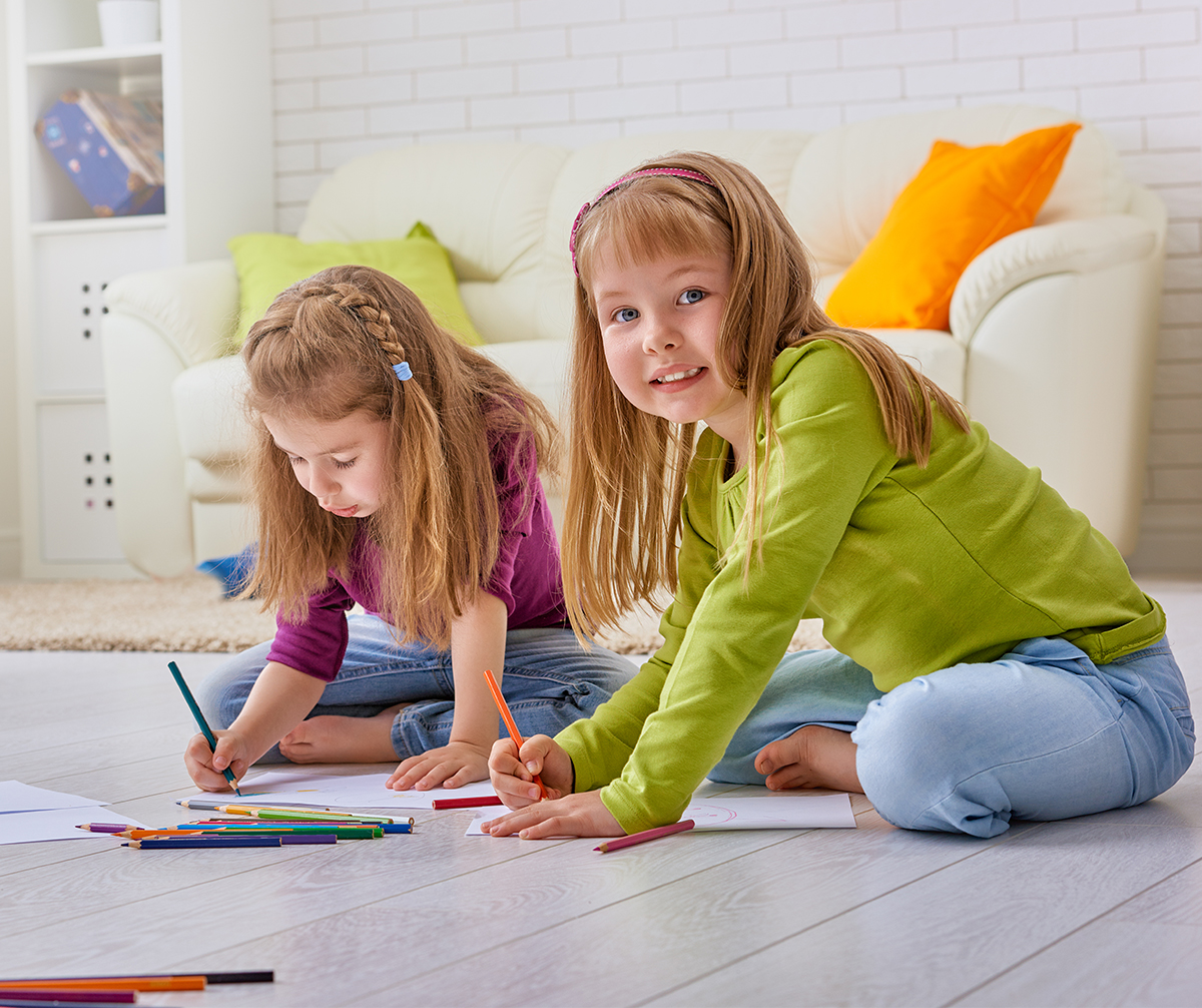 two girls coloring sheets - Little Kid Coloring