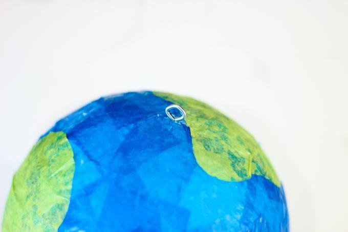 Little Passports Blog DIY Tissue Paper Globe Top View