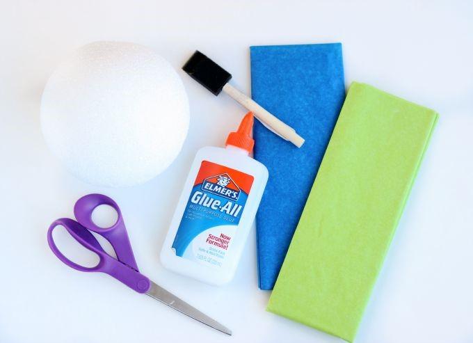 Little Passports Blog DIY Tissue Paper Globe Materials