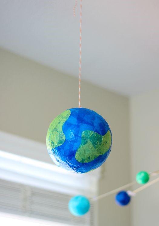 Little Passports Blog DIY Tissue Paper Globe Hanging with Hanger