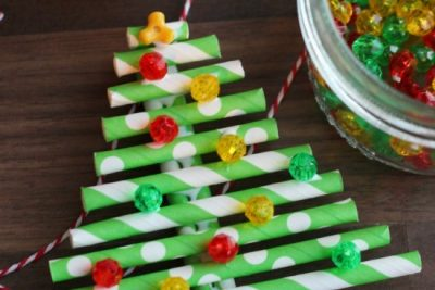 Straw paper ornament