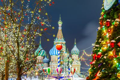 St Basil's Cathedral during Christmas