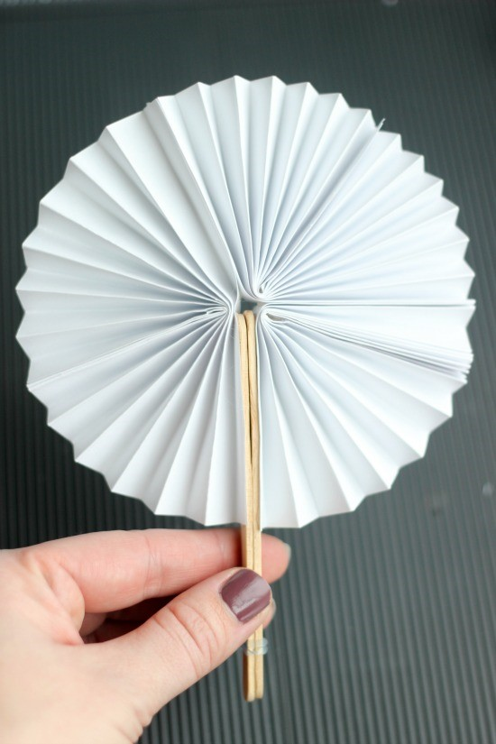 Step 4 Once Dry Open Up Your Fan And Enjoy Tip Use The Mini Hair Band To Hold Craft Sticks Together When Is