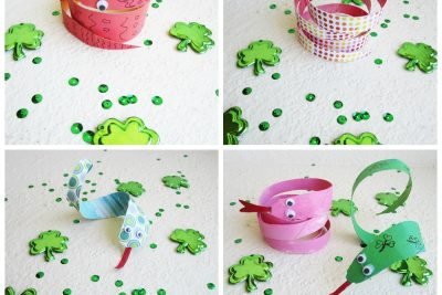 St Patrick's day snake craft
