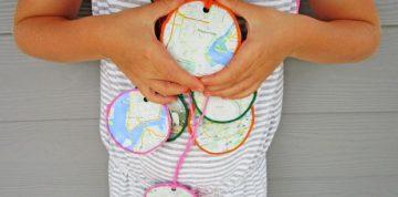 map pendent craft