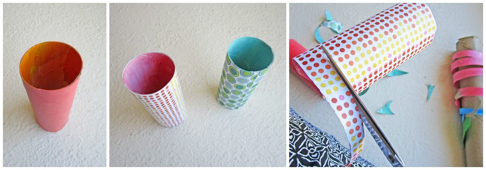 Little Passports Blog St. Patrick's Day Snake Craft Paint Paper Towel Rolls then Cut