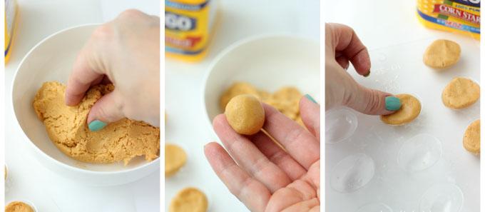 Little Passports Blog Rolling Peanut Butter Mix into Egg Shape