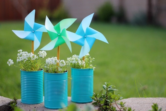diy earth day pinwheels. Black Bedroom Furniture Sets. Home Design Ideas