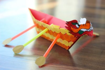 DIY Chinese Dragon Boat for Kids!