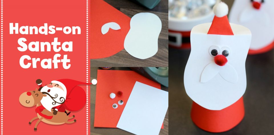 Make an adorable Santa cone craft with Little Passports