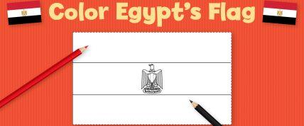 Color Egypt's Flag