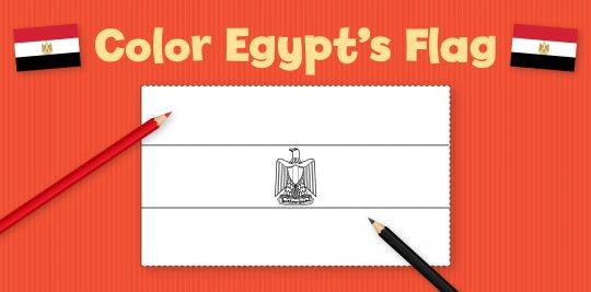 Color Egypt's Flag