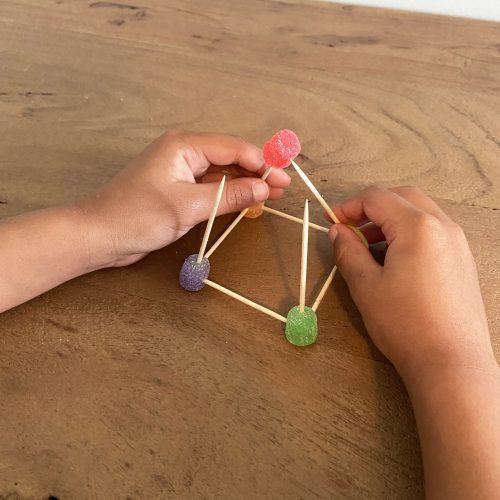 build a gumdrop pyramid step 3