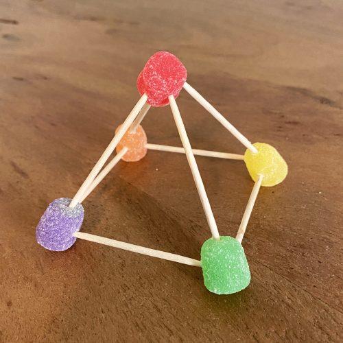 build a gumdrop pyramid step 4