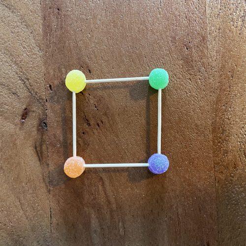 build a gumdrop pyramid step 1
