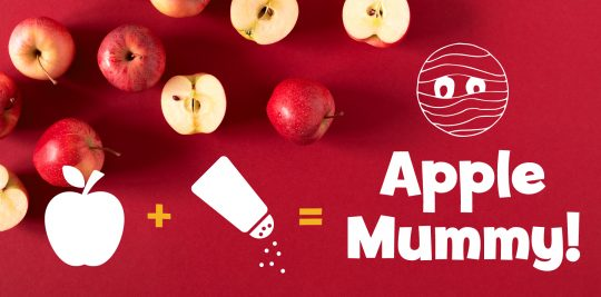Activity: Make a mummy from an apple