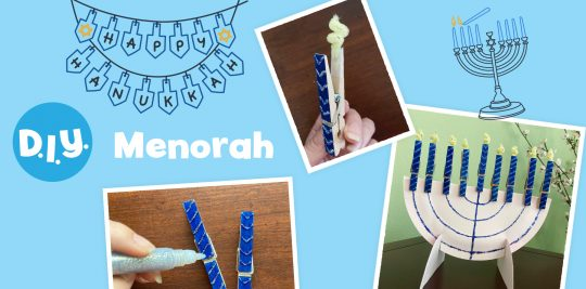 Celebrate Hanukkah with this menorah craft from Little Passports