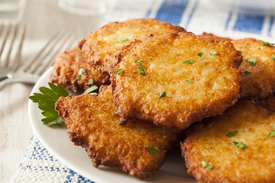 make Hanukkah fried potato pancakes called latkes with this recipe from Little Passports