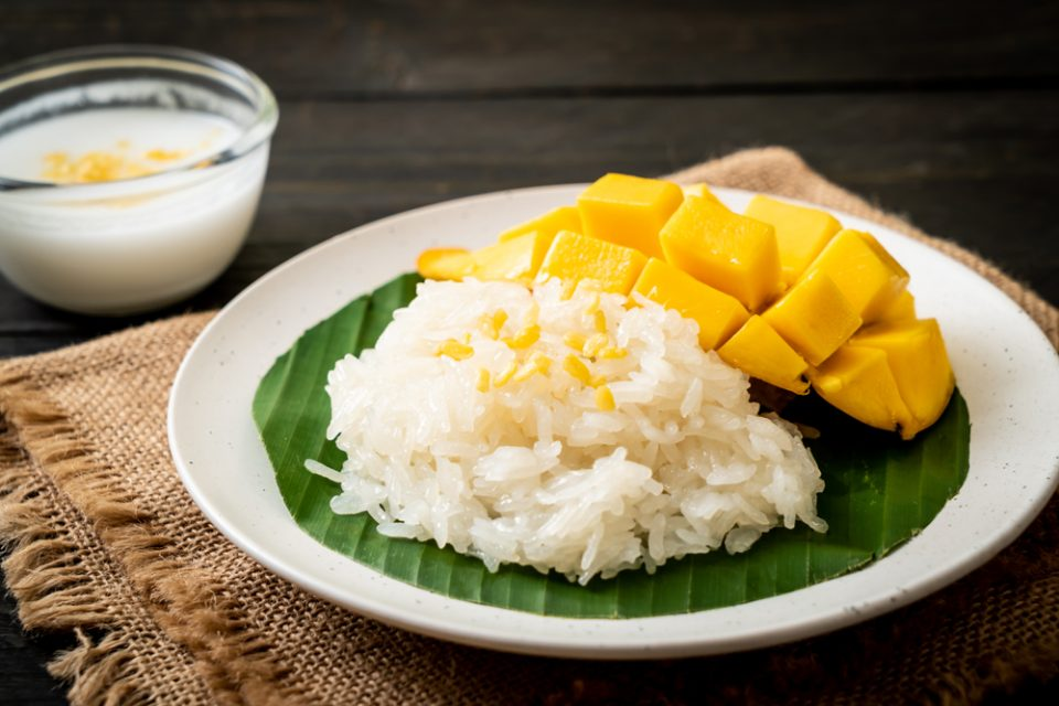 make thai mango sticky rice with this recipe from Little Passports