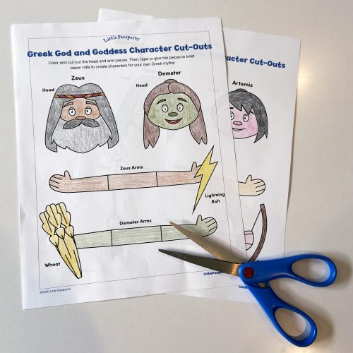 Greek gods and goddesses craft from Little Passports step 1