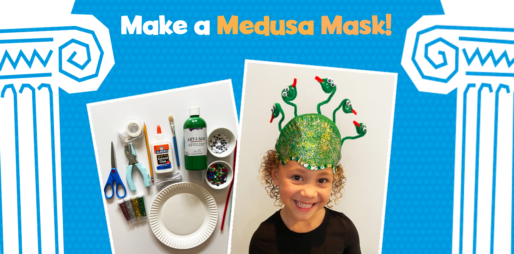 Make a Medusa mask with Little Passports