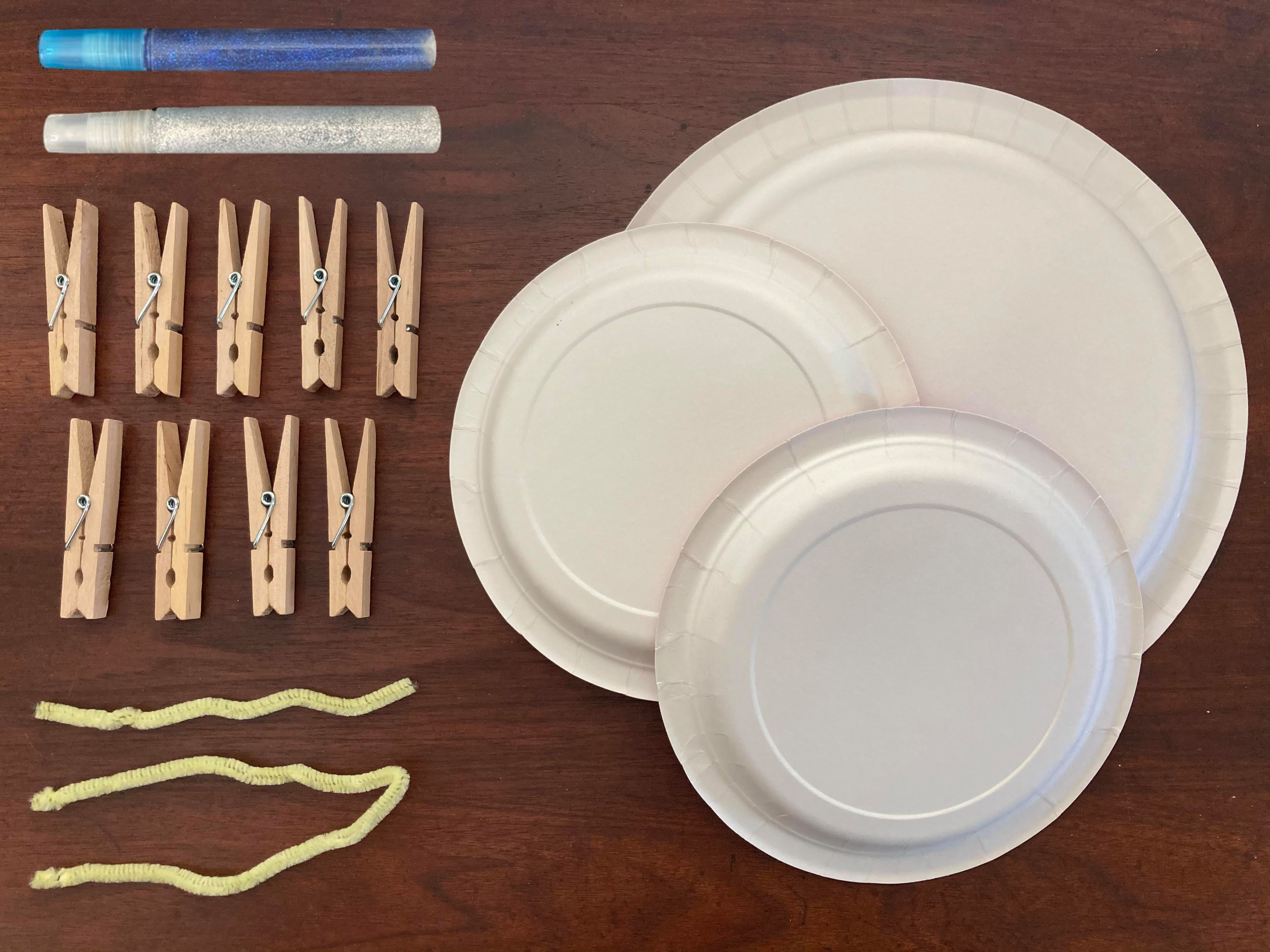 Supplies for the DIY menorah craft from Little Passports
