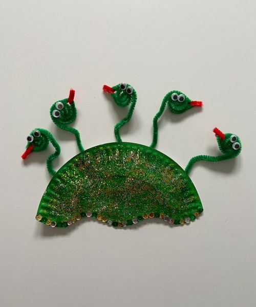 Make a medusa mask with Little Passports step 6