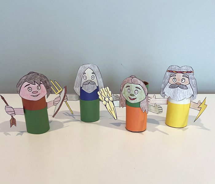 Greek gods and goddesses craft from Little Passports step 4