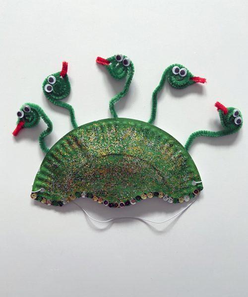 Make a medusa mask with Little Passports step 7