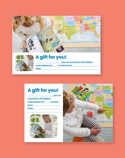 USA Edition Printable Gift Card