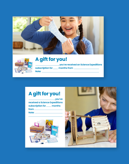 Science Expeditions Printable Gift Card