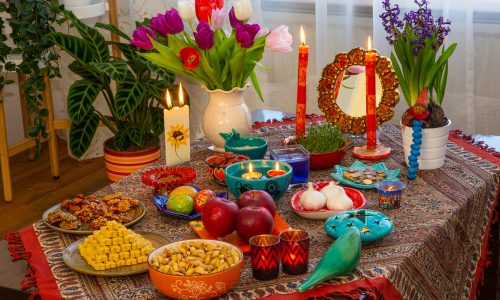 Learn about nowruz and the haftseen table, a spring tradition in Iran