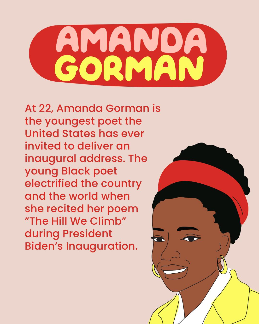 A picture of Amanda Gorman