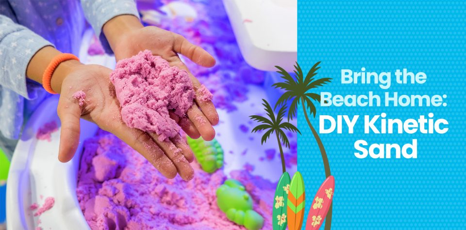 Bring the beach home by making kinetic sand with this activity from Little Passports