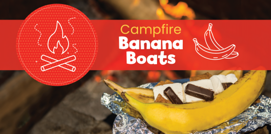 Make campfire banana boats with this recipe from Little Passports