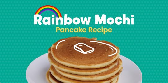 Make rainbow mochi pancakes with this recipe from Little Passports