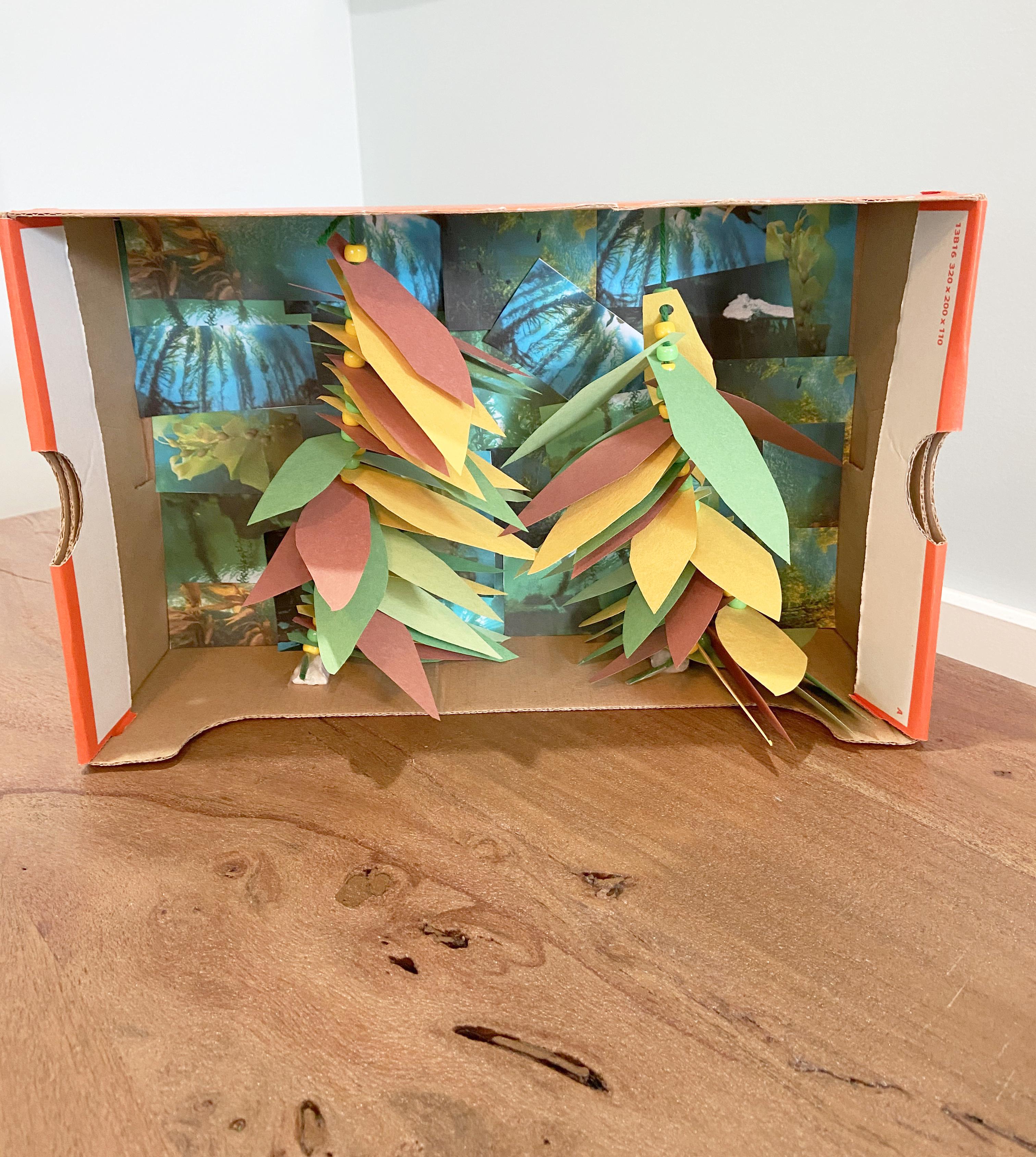 Kelp forest craft for kids - hang kelp